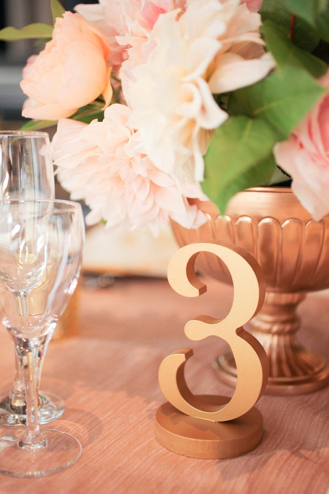Table Numbers for Wedding and Events Painted Wedding Decor for Wedding Table Numbers, Wedding Signs for Centerpiece Decor (Item - NUM120)