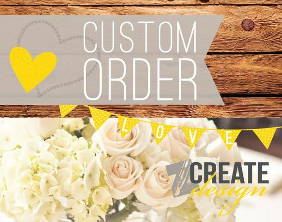 Custom listing for Ashley - Invoice