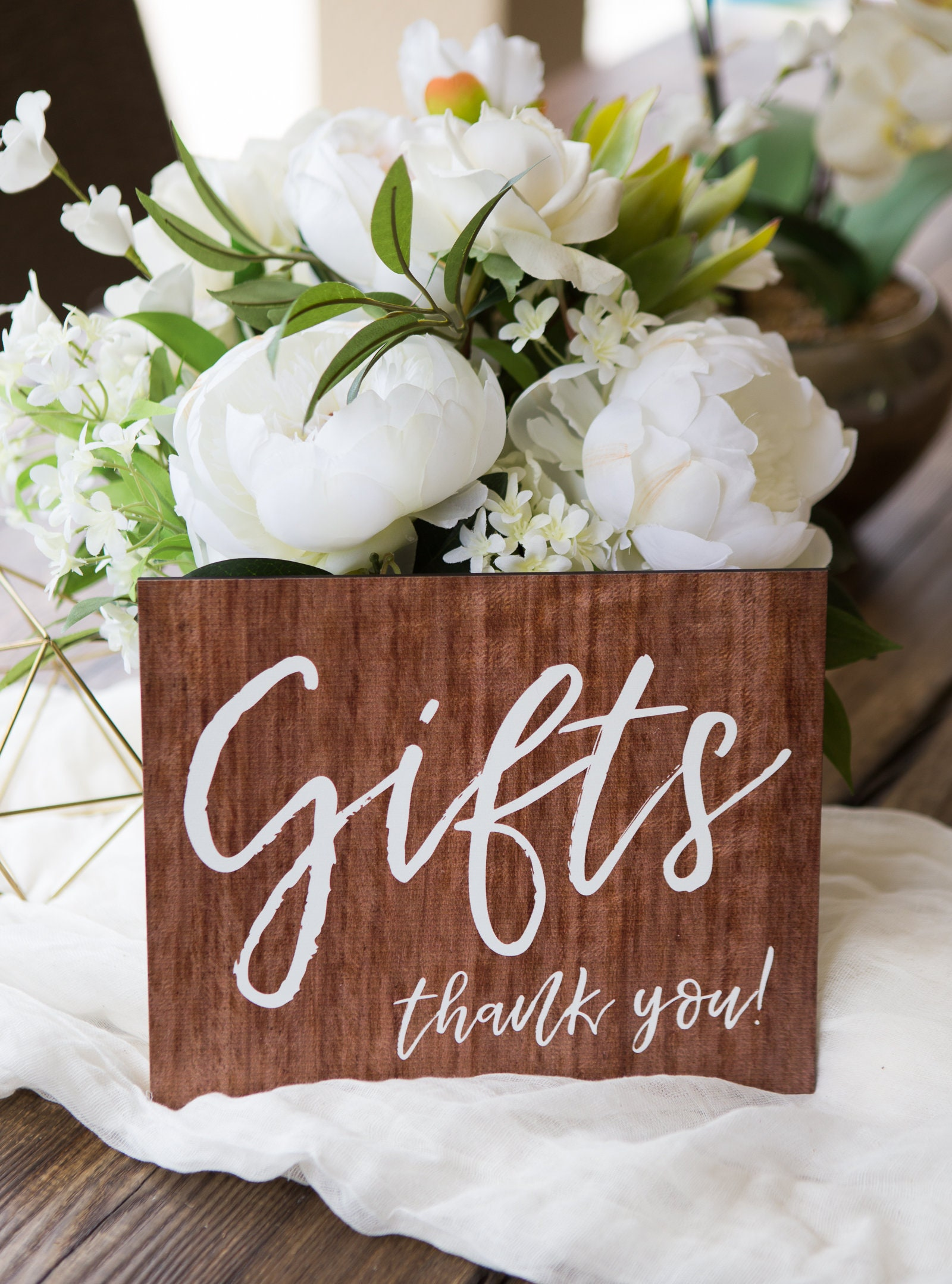 Gift Table Wedding Sign Wooden Style Sign For Wedding Decor Etsy