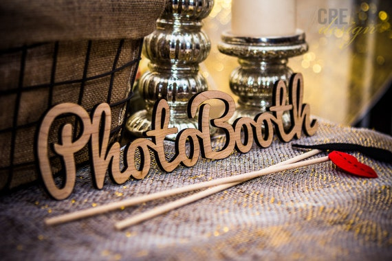 Photobooth Sign For Wedding Or Party Wooden Wedding Sign For Etsy