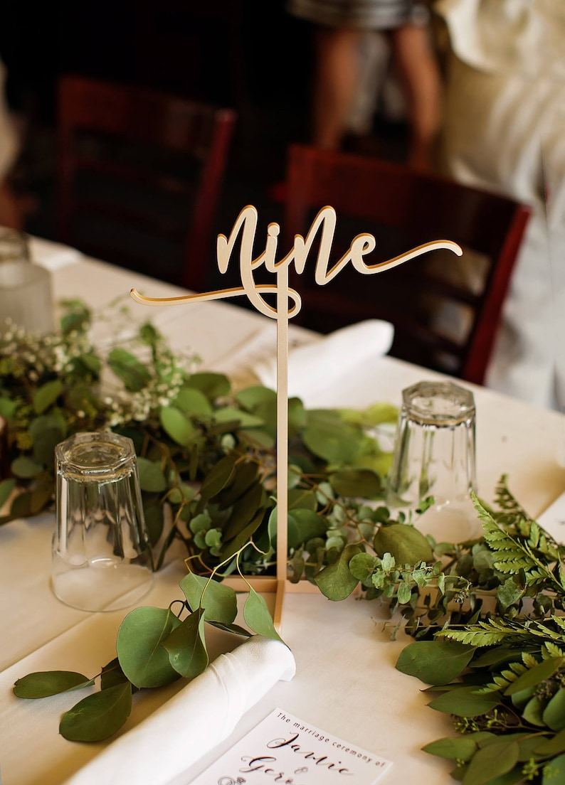 Standing Table Number Sticks Signs for Wedding & Party Table image 0