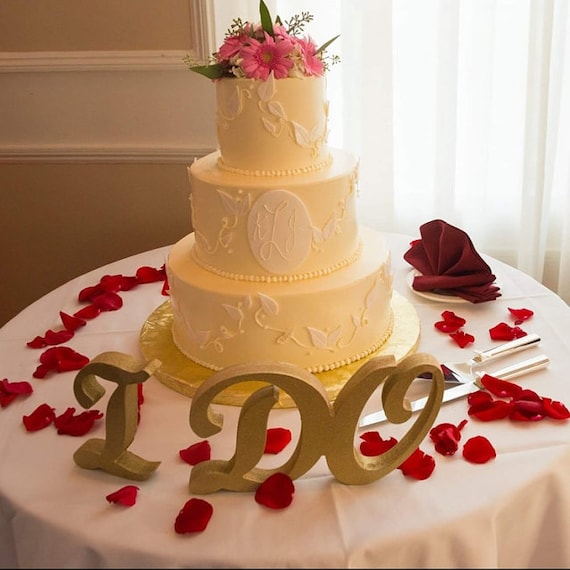 I Do Sign For Wedding Table Decor Cake Table Sign Wedding Table Sign For Ceremony Or Reception I Do Standing Letters Item Ido801