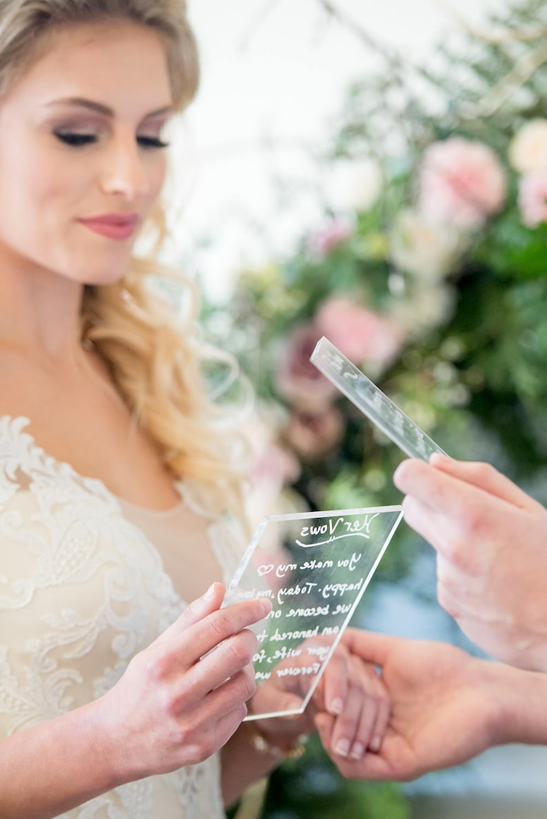 Item - CLR400 Clear Acrylic Wedding Sign Clear Acrylic Pieces for DIY Wedding or Party Signs Modern Wedding Sign Choose Your Size