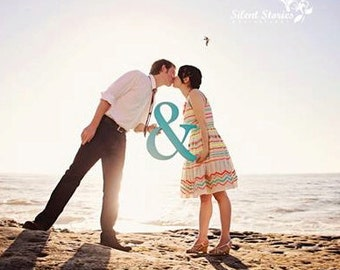 Ampersand Sign - 15 Inch Tall Ampersand Sign Photo Prop for Wedding or Engagement - Wedding Sign Photo Prop (Item - AMP150)
