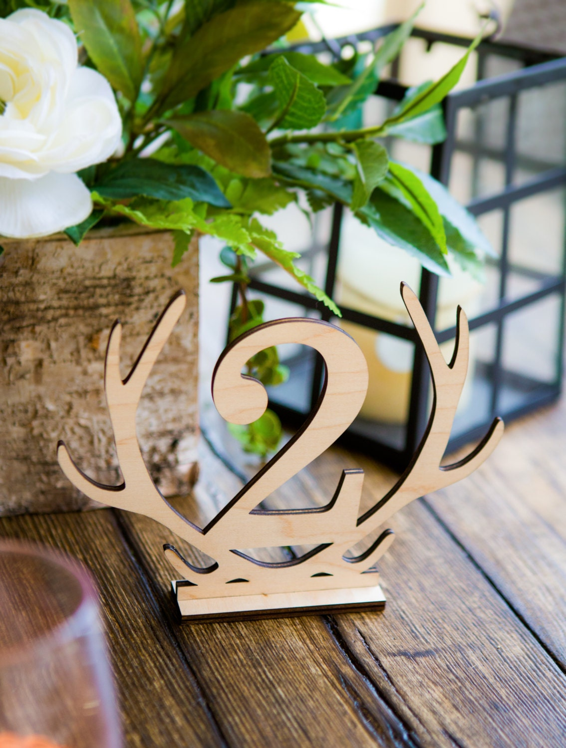Exceptionnel Rustic Antler Table Numbers   Boho Style Wooden Numbers For Table  Centerpieces Sticks Or Stands Wedding Decor Reception Sign (Item   LAS100)