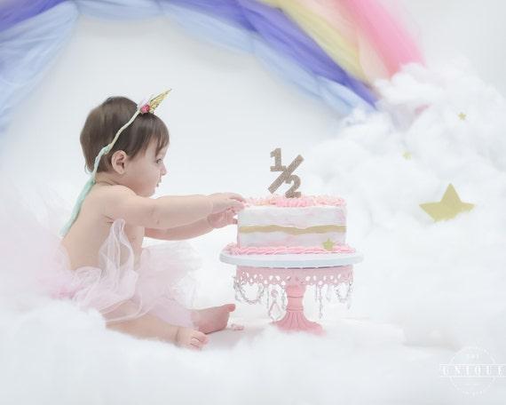Glitter Half 1 2 Cake Topper Birthday In