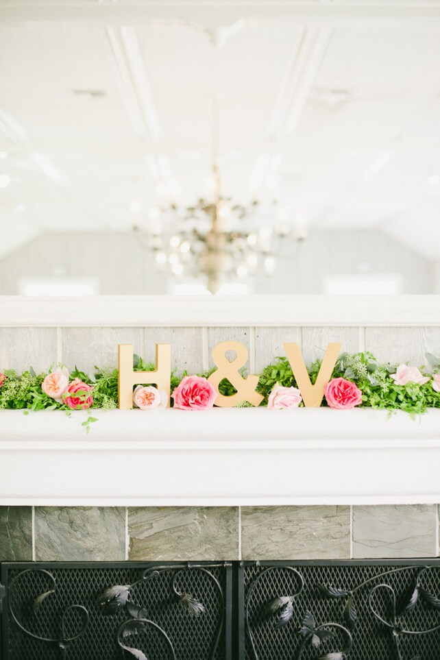 Wooden Letters Standing Wedding Initial Signs Set - Personalized Wooden Initials - Freestanding Letters Wedding Sign (Item - INI400)