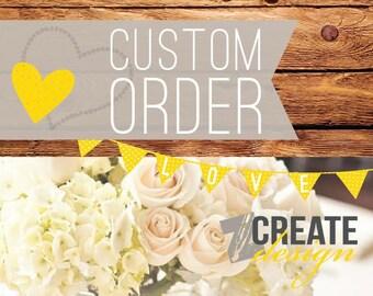 Custom listing for Bianca Rambidis - Invoice