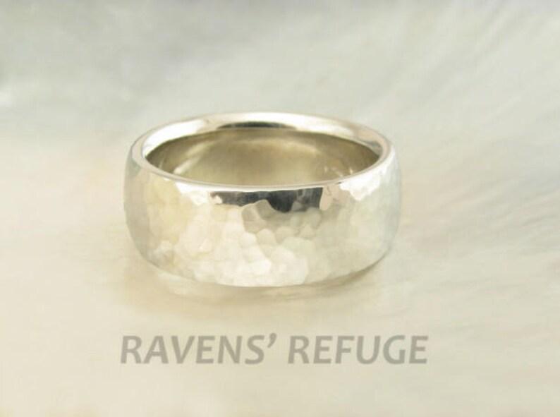 90bc66eefd0843 Handmade wedding band for men or women 14k white gold | Etsy