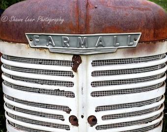 Rust & White Farmall Tractor Grill Photograph South Dakota