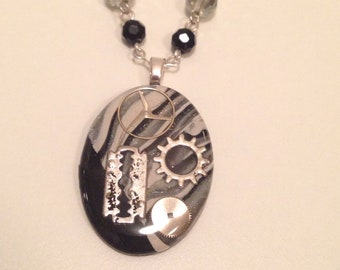 Time Bomb Set Necklace and Earrings