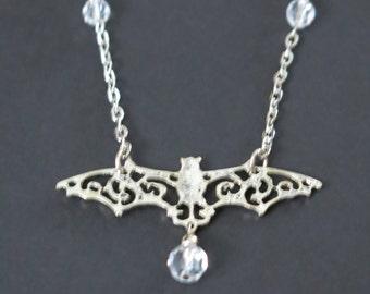 Crystal Bat Necklace