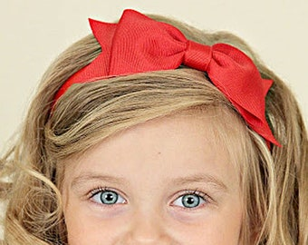Big Red Hair Bow Headband Red Hair Band Ruby Red Headband Headbands for  Girls Toddler Girl Headbands Big Bow Headband Big Red Bow e17b63dcf72
