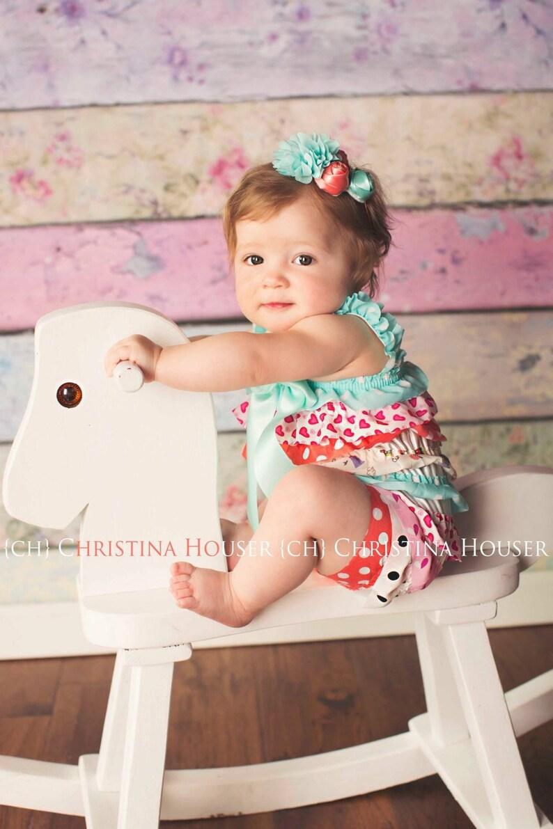 87b7b1b95961 Satin Romper for Baby Girl Cake Smash Outfit Girl Romper Baby