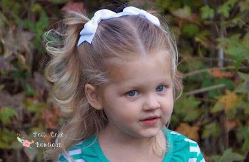 3417c11b92580 White Hair Bows for Girls White Bows Baby Hair Bows Girls Hair