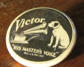 Nipper the RCA Victor Mascot 1.25 inch Pinback Button
