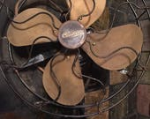 Working 1914 Century 11 quot Brass Blade Steel Cage Made in USA Fan