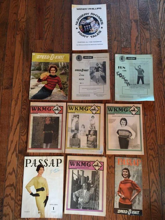 Vintage Knitting Machine Magazines Books Patterns Lot