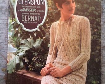 Vintage 1967 Glenspun Bernat Yarn Knitting Pattern Book 149