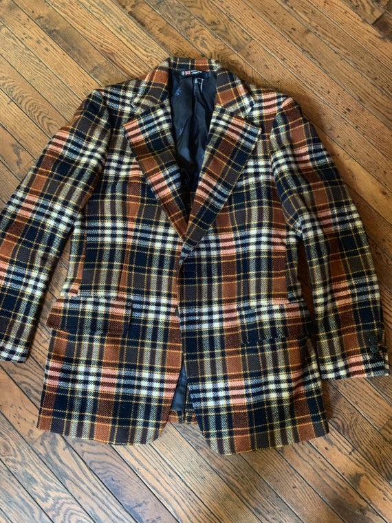 Vintage Austin Reed Virgin Wool Plaid Preppy Jacket Blazer Etsy