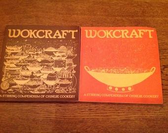 Vintage Wokcraft Chinese Cookery Cookbooks 1972