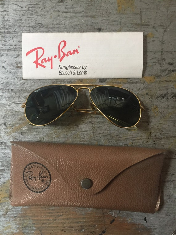 Vintage 90's Ray-Ban RayBan Ray Ban Gold Aviator S