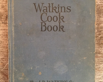 Vintage 1936 J.R. Watkins  Recipe Cook Book Cookbook