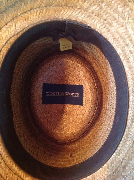 Worth & Worth Straw Summer Hat Fedora Capas Desig… - image 3