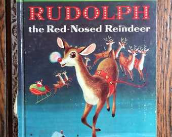 1958 Little Golden Book Rudolph the Red-Nosed Reindeer