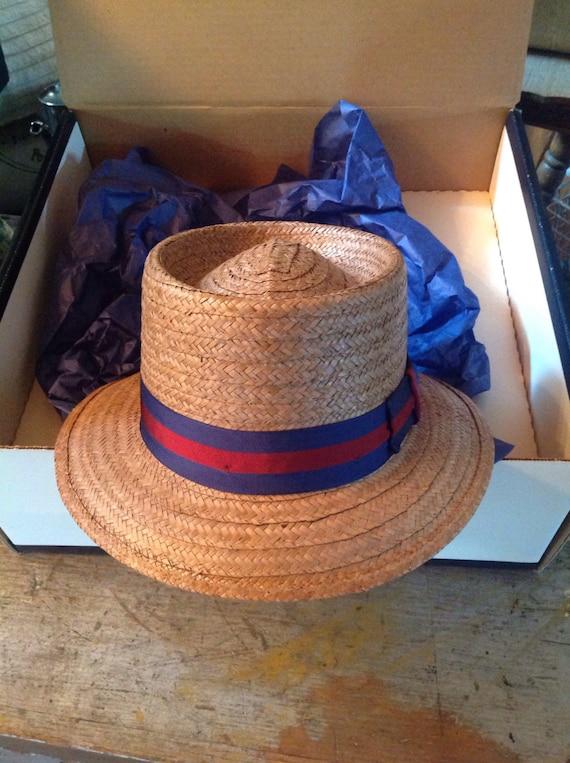 Worth & Worth Straw Summer Hat Fedora Capas Desig… - image 1