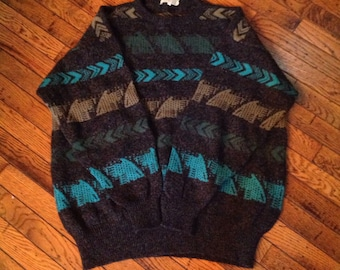 Mens Kolor Knits Ireland Irish Wool Sweater sz L