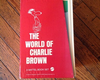 Vintage The World of Charlie Brown Mattel Book Library