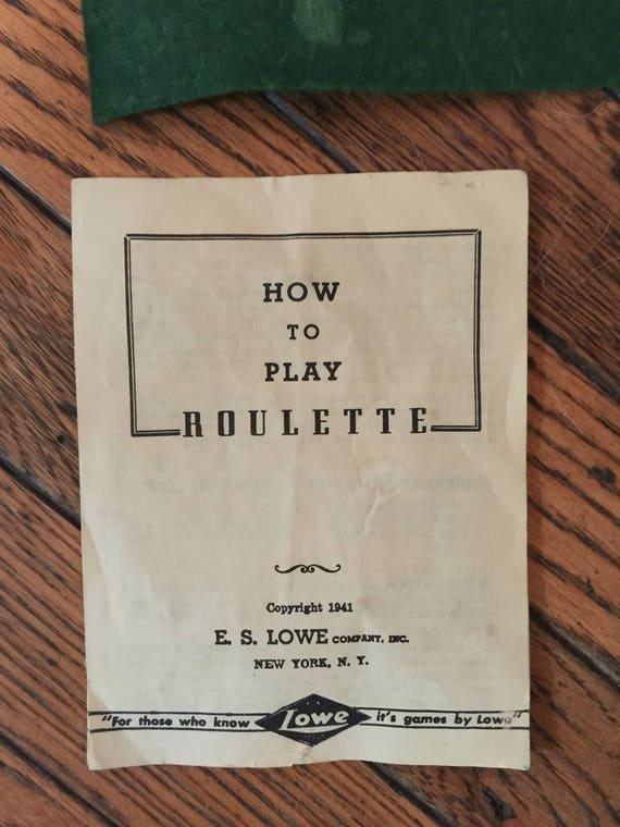 Juego ruleta de vendimia 1941 Lowe empresa | Etsy