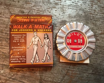 Vintage Walk-a-Matic Pedometer for Joggers Walkers