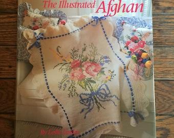Vintage 1990 The Illustrated Afghan Book Leslie Linsley