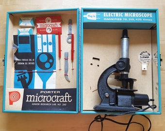 Vintage Porter Microcraft Microscope Lab No.260 (Science Novelty in Working Condition)