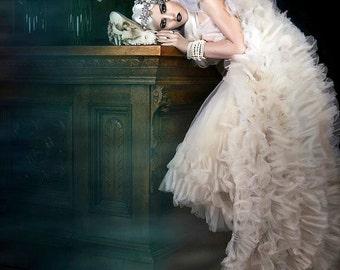 Tutu Petticoat Steampunk Wedding Tulle Tutu Ballet Skirt Bridal Wedding Black Swan Lady Gaga Bridal SPECIAL ETSY PRICE