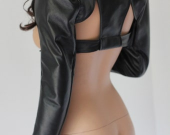 Leather Bolero long sleeve  Post-apocalyptic CHRISST