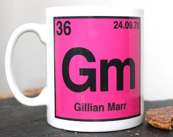 personalised periodic table mug periodic table mug teacher gift christmas gift gift for student geek gift gift for him