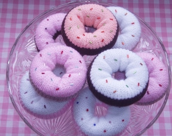 Knitting Pattern - instant download - DELICIOUS DONUTS