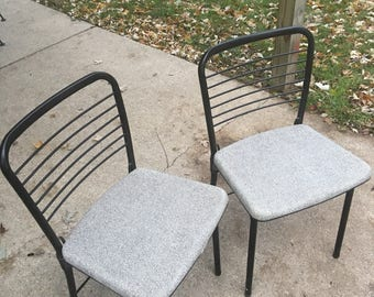Antiques Furniture Vintage 1950's Cisco Stylaire Folding Chairs Set Of 4