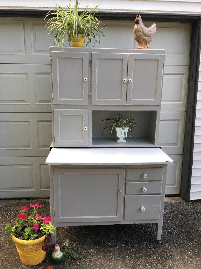 Ordinaire Vintage Hoosier Cabinet, Gray Kitchen Caninets, Bakers Cabinet, China  Cabinet, Kitchen Hutch