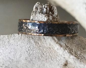 Textured Mixed Metals Ring