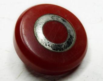 Bakelite Button Cherry Red Bulls Eye