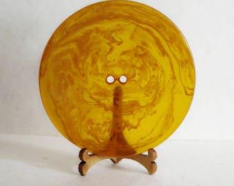Bakelite Button Orange Juice Round