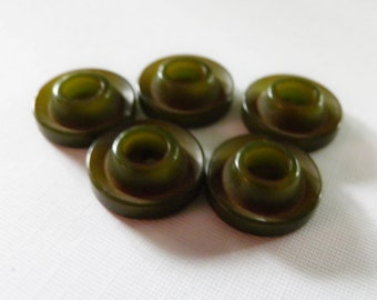 Forest Green Bakelite Button