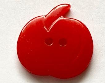 Bakelite Pumpkin Button Red