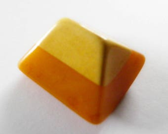 Large Orange & Yellow Bakelite Cookie Button Rocker