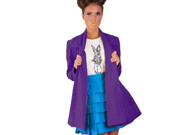 Wonderland Collared 'Mad Hatter Swing Coat' *Limited Edition - Purple
