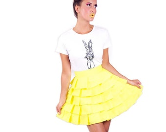 Wonderland layered 'Alice Ruffle Skirt' - Yellow